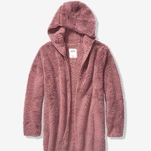 NWT PINK Victoria's Secret Sherpa Cardigan XS/S
